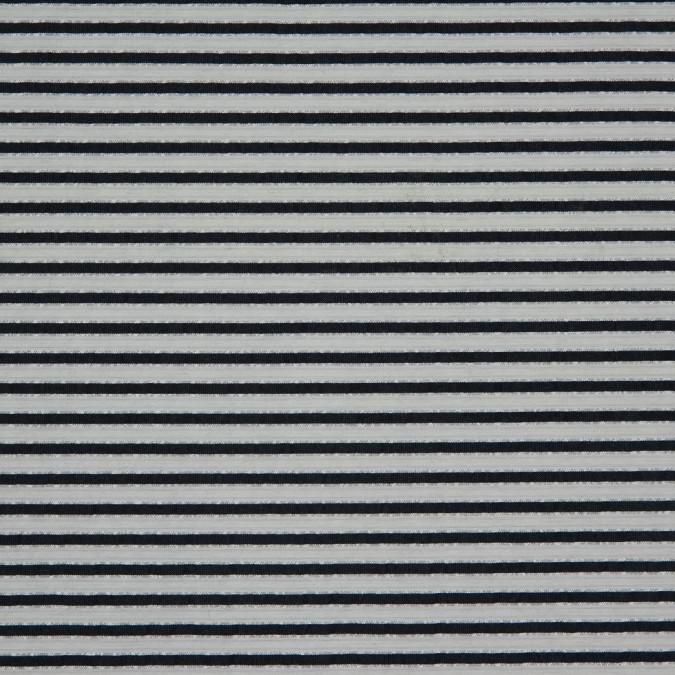 metallic bright white blue nights striped polyester blended seersucker 310888 11