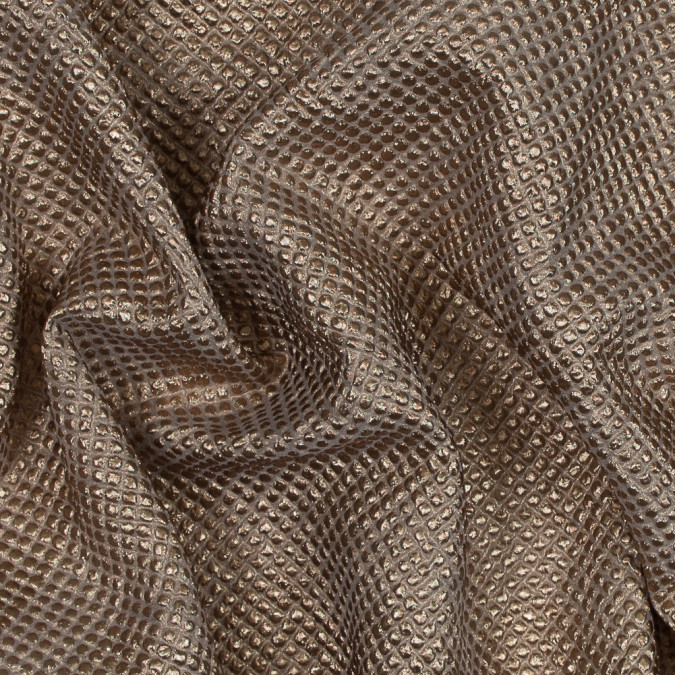 metallic bronze diamond quilted brocade 118968 11