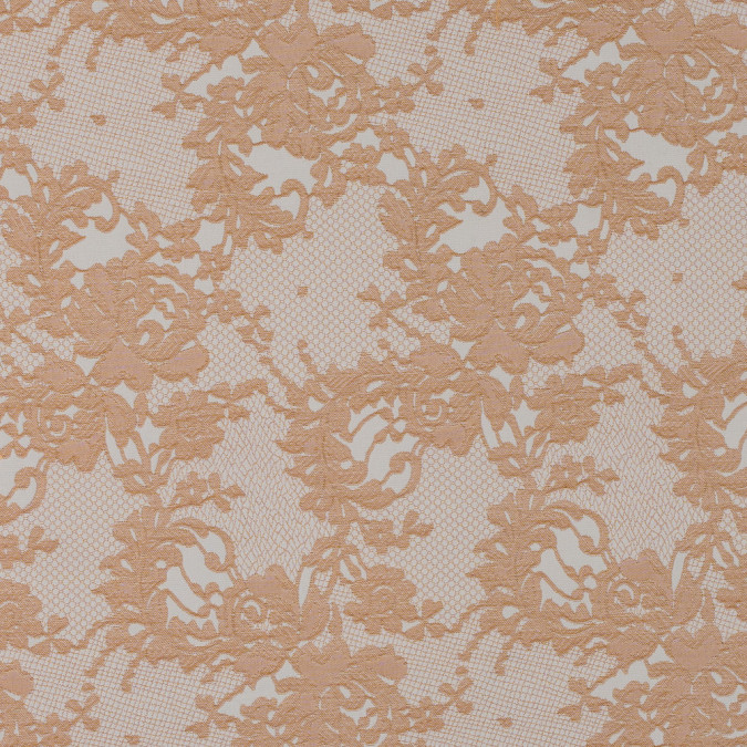 metallic butterscotch and white lacey floral brocade 315450 11