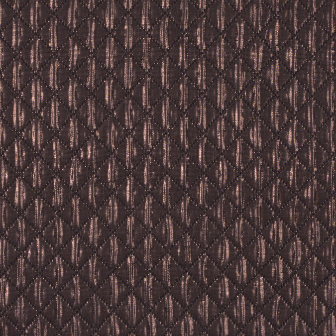 metallic copper and black quilted brocade 311128 11