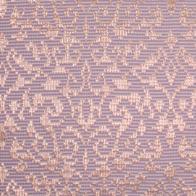 metallic copper and lilac polyester brocade 305669 11