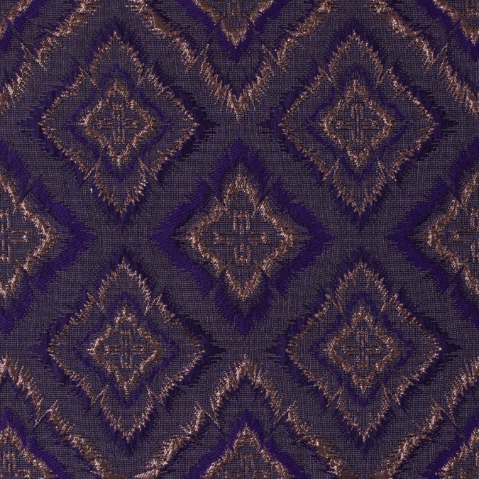 metallic copper and purple geometric brocade 312125 11