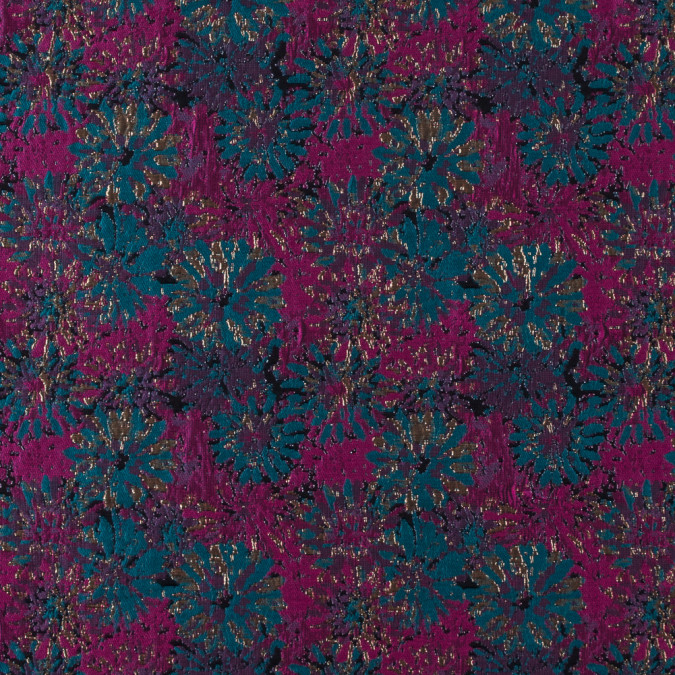 metallic copper fuchsia emerald floral jacquard 311050 11