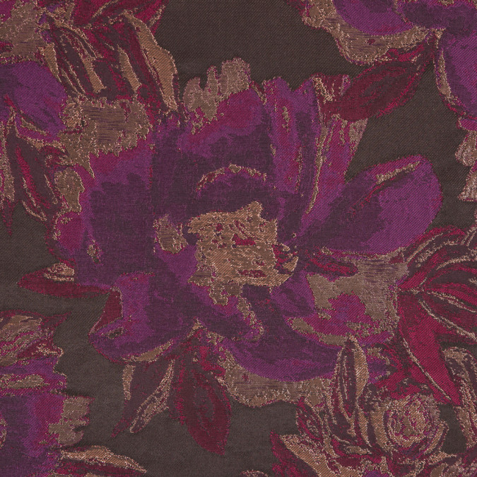 metallic copper fuchsia floral jacquard 309442 11