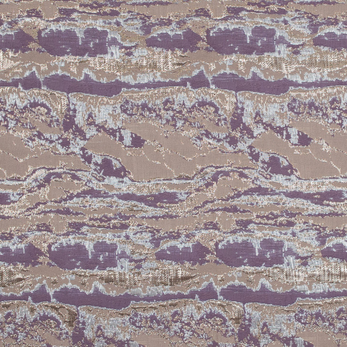 metallic gold lavender and mauve abstract jacquard 318163 11