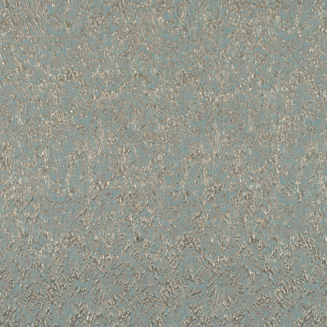 metallic gold and aqua floral brocade 316270 11