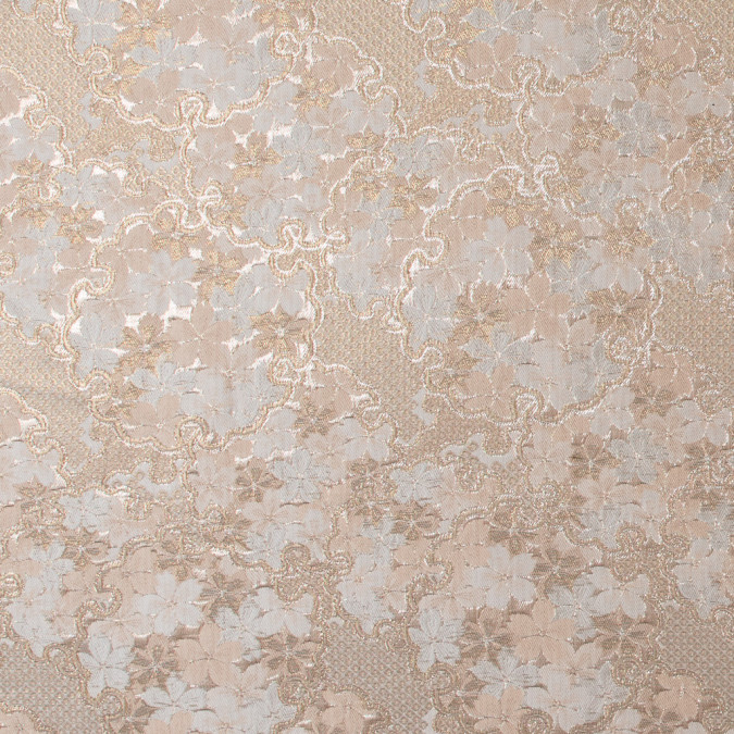 metallic gold and beige floral brocade 316674 11