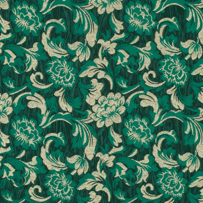 metallic gold and emerald green floral brocade 315314 11