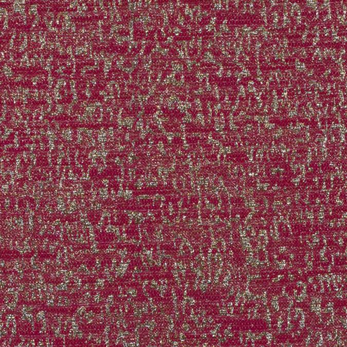 metallic gold and fucshia abstract jacquard 116014 11