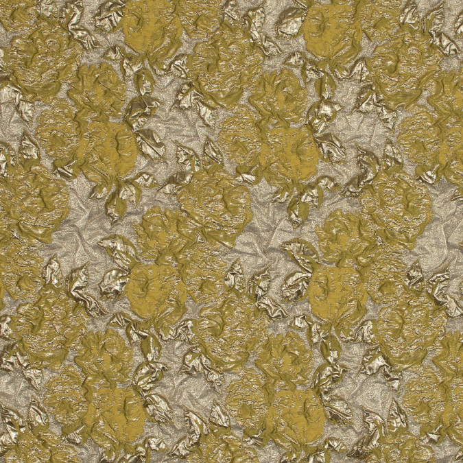 metallic gold and lime rose brocade 118965 11