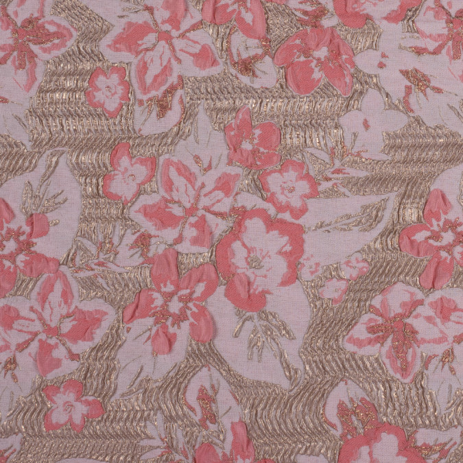 metallic gold and pink floral brocade 312153 11