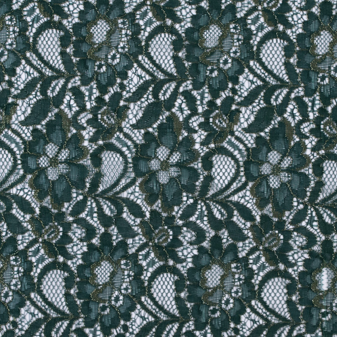 metallic gold and verdant green floral lace 310401 11