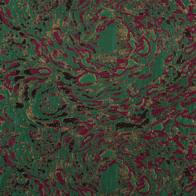 metallic gold green maroon abstract jacquard 309882 11