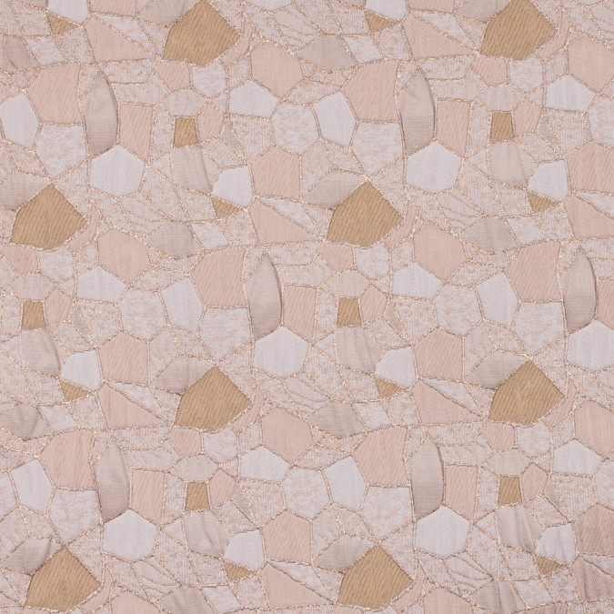 metallic gold ivory dark beige abstract brocade 312118 11