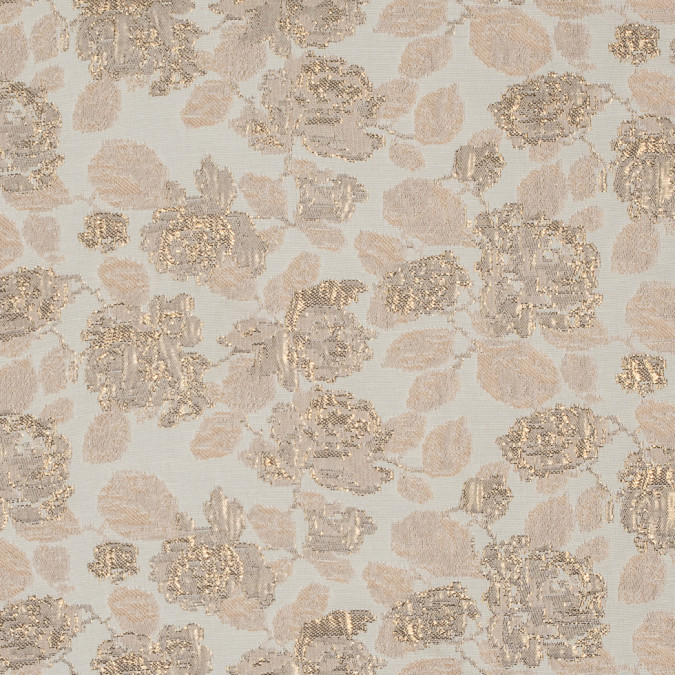 metallic gold pastel rose tan eggnog floral brocade jacquard 310844 11