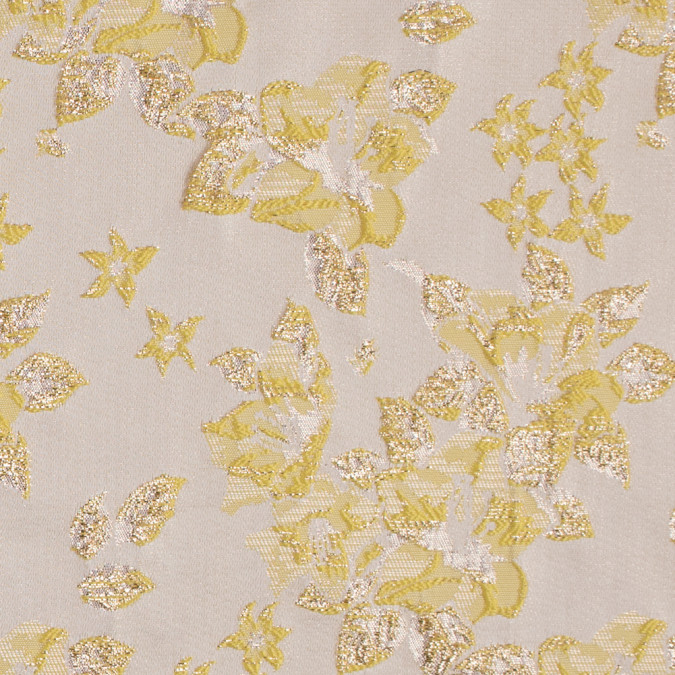 metallic gold yellow floral brocade 311986 11