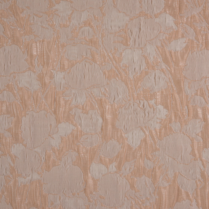 metallic mother of pearl apricot illusion floral brocade jacquard 310851 11