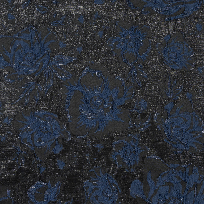 metallic navy on black floral brocade 316271 11