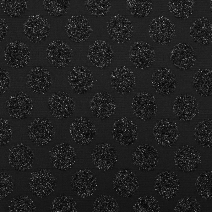 metallic phantom black polka dot polyester brocade 311154 11