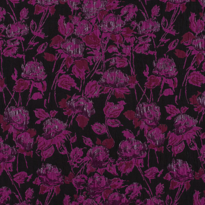 metallic pink and black floral brocade 316267 11