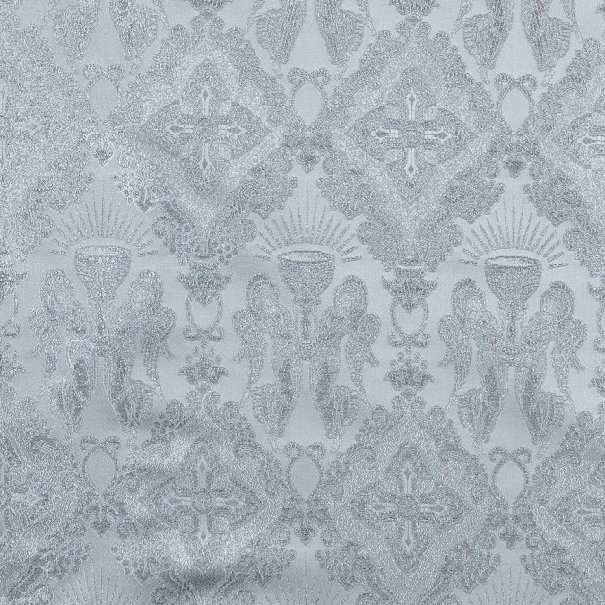 metallic silver and white vestment jacquard 318333 11