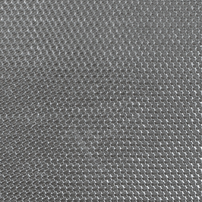 metallic silver basket woven vinyl 312792 11