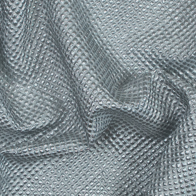 metallic silver diamond quilted brocade 118972 11