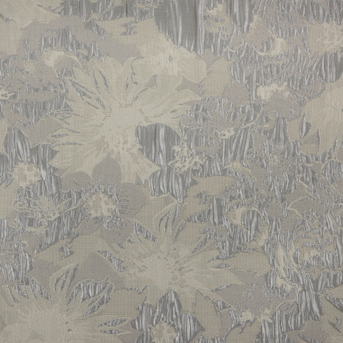 metallic silver ivory floral jacquard 309871 11