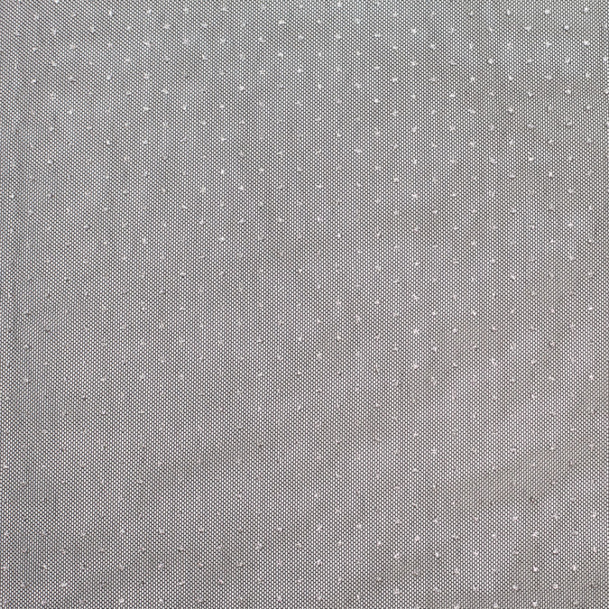 metallic silver spotted black polyester tulle 307229 11