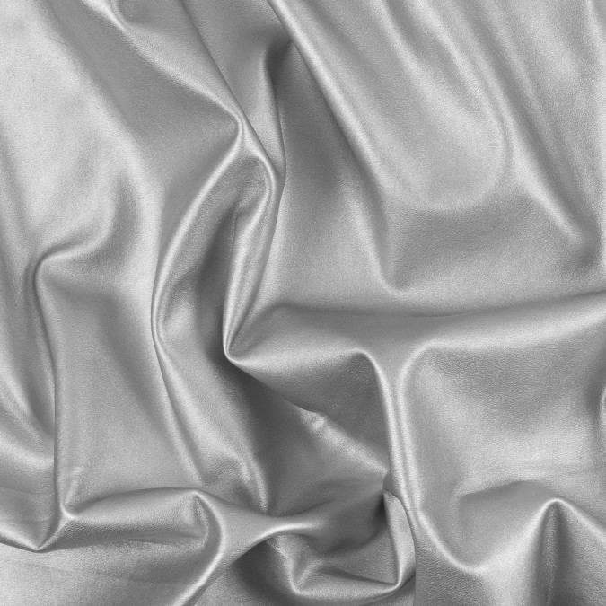 metallic silver stretch faux leather vinyl 311408 11