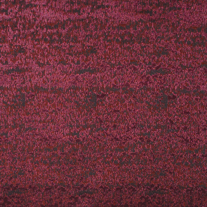 metallic tango red and black abstract brocade 315319 11