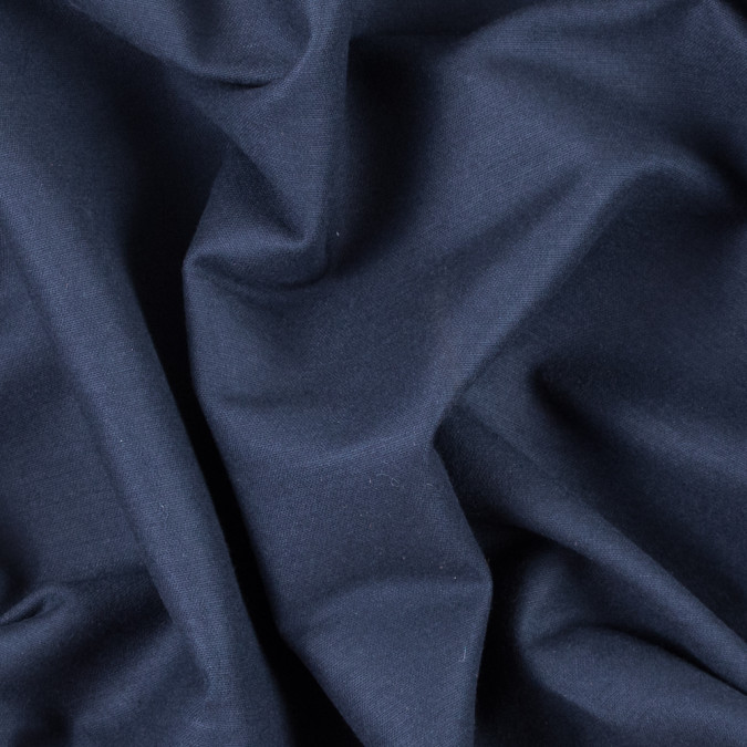 midnight navy brushed cotton woven 311619 11