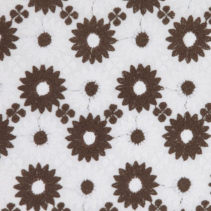 milly lily white mustang brown floral embriodered cotton voile fc25335 11
