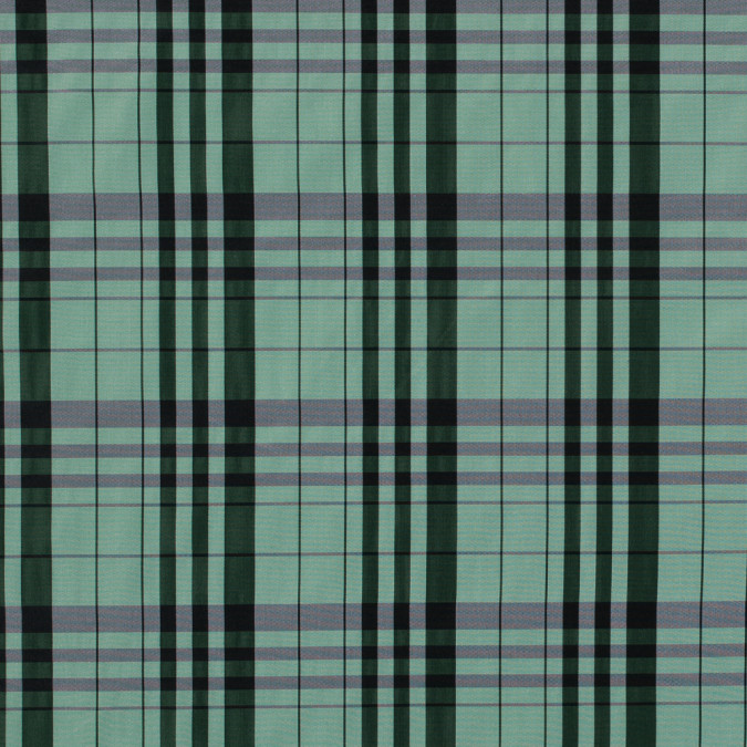mineral green plaid polyester taffeta 315377 11