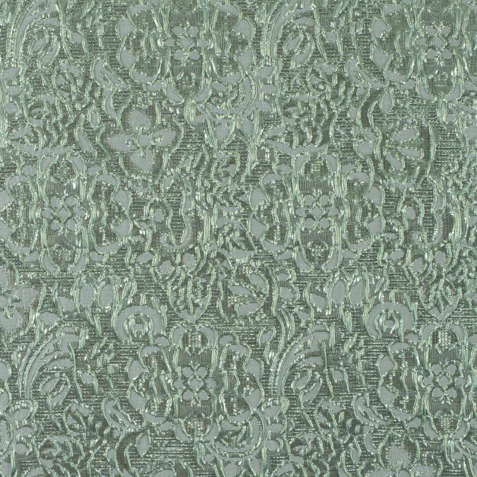 mint metallic floral brocade 311772 11