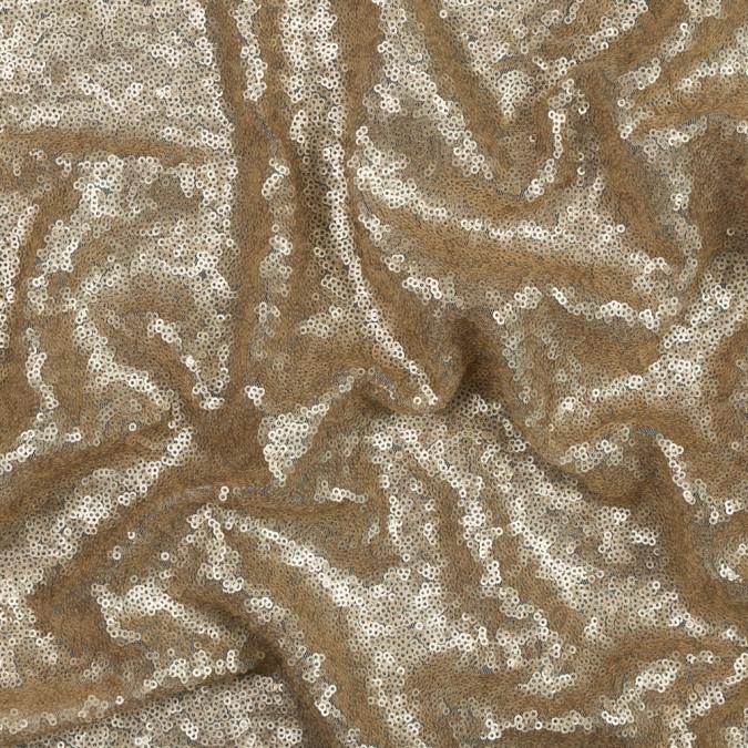 mocha baby sequins on mesh 119511 11