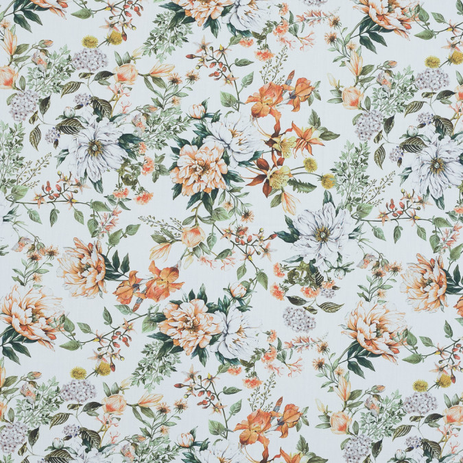 mood exclusive les fleurs de l amour orange and green cotton poplin md0024 11