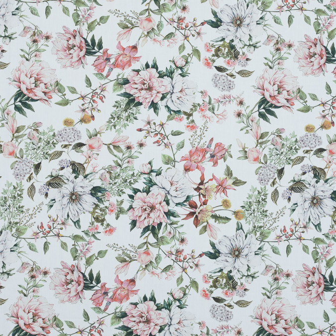 mood exclusive les fleurs de l amour pink and green cotton poplin md0025 11