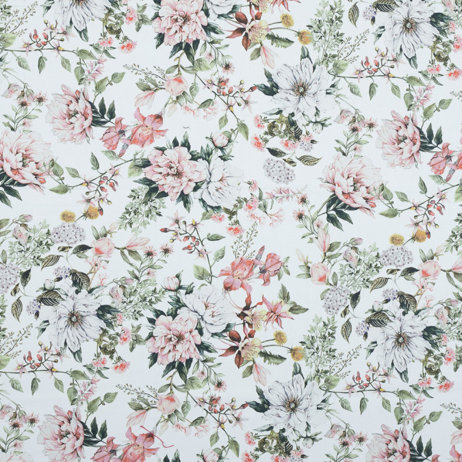 mood exclusive les fleurs de l amour pink and green stretch cotton sateen md0046 11