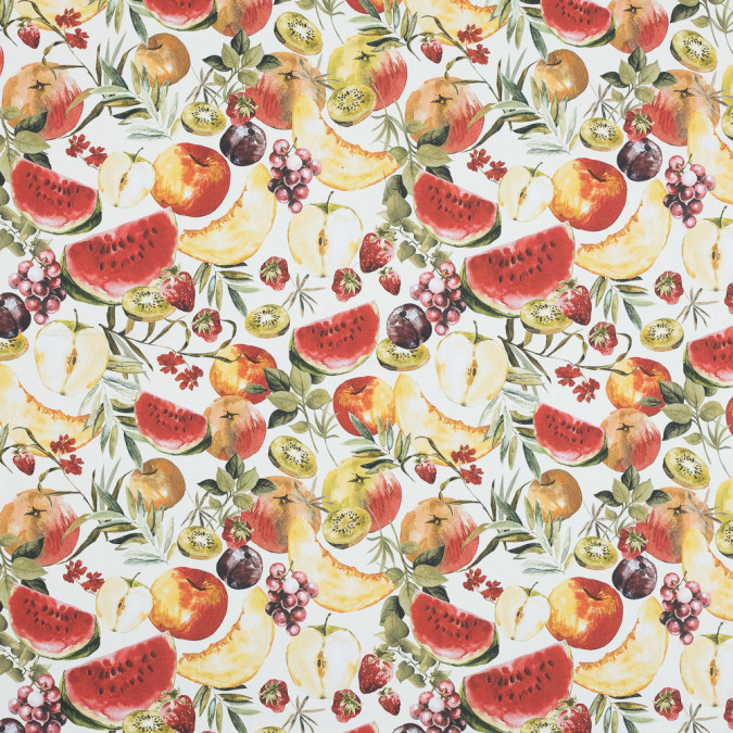mood exclusive rafraichir des fruits white and multicolor stretch cotton sateen md0055 11