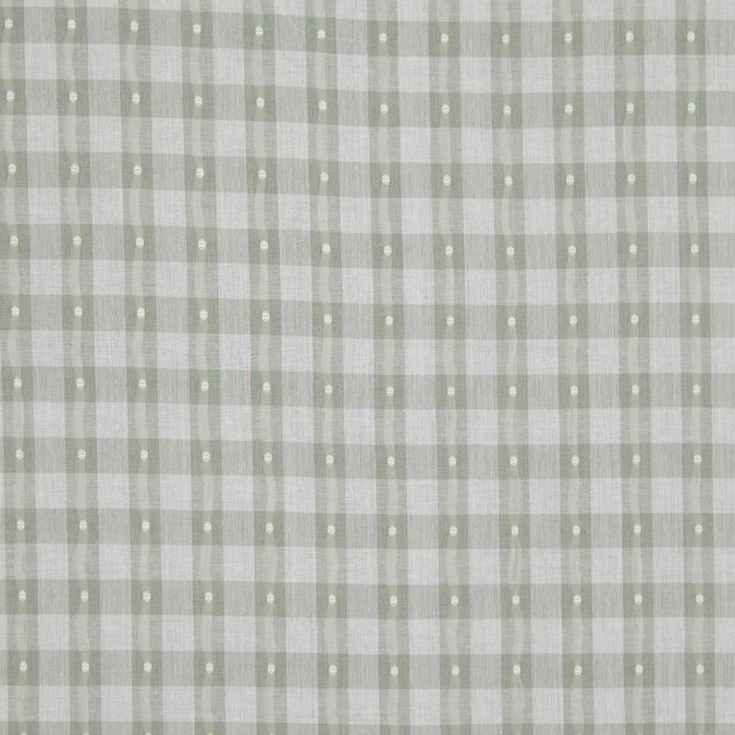 moss green checked cotton shirting 303903 11