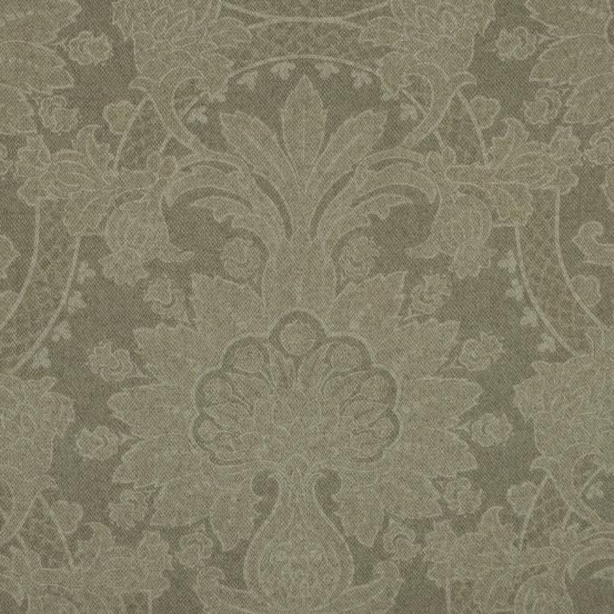 moss green unconventional damask wool blend 319108 11