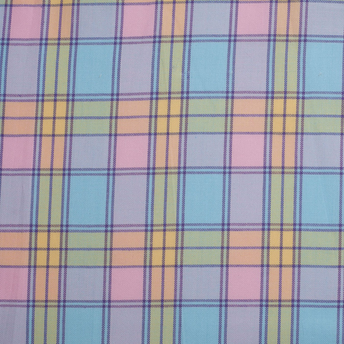 multi pastel plaid yarn dyed cotton twill 306358 11