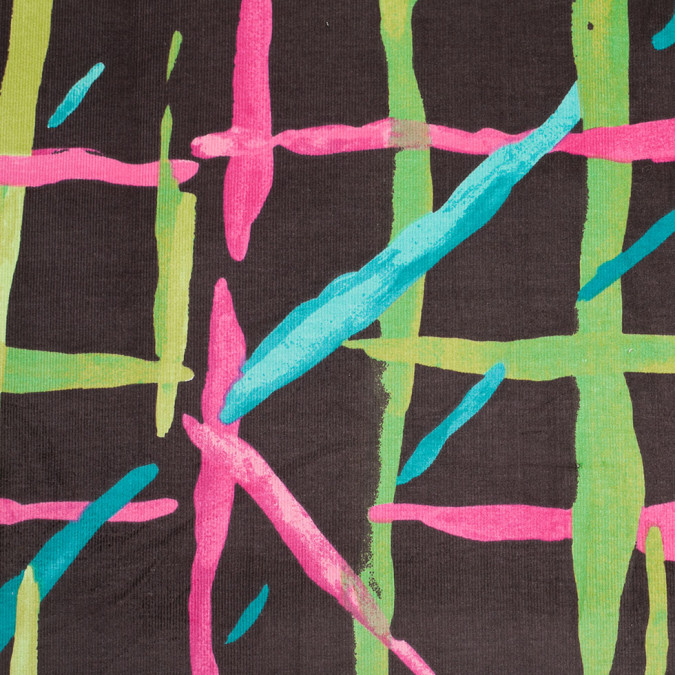 multicolor abstract painterly stretch cotton corduroy 305934 11