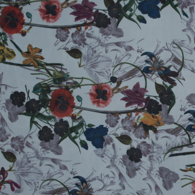 multicolor floral digitally printed organdy 116020 11