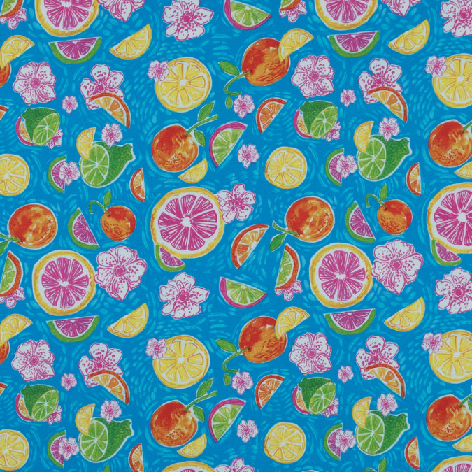 multicolor fruit printed stretch cotton sateen 315821 11