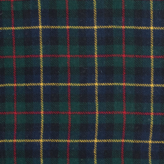 multicolor tartan plaid brushed wool twill 317258 11