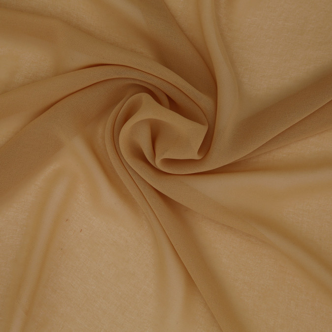mustard high twist polyester chiffon 306685 11