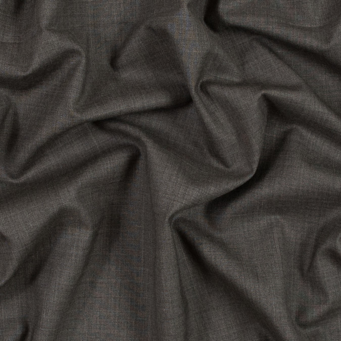 muted brown stretch wool suiting 317565 11