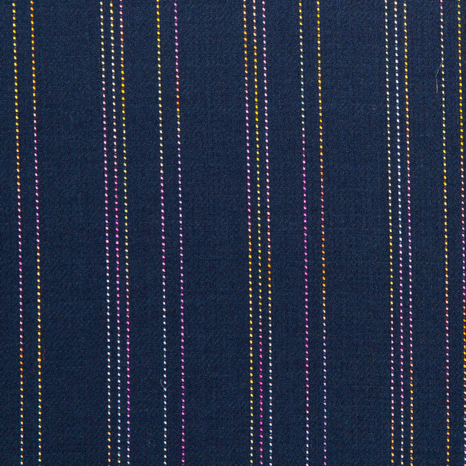 muted navy rainbow striped light weight twill 310575 11